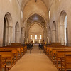 Interior of church at Abbaye de Senanque, Gordes village, Vaucluse region, Provence, France