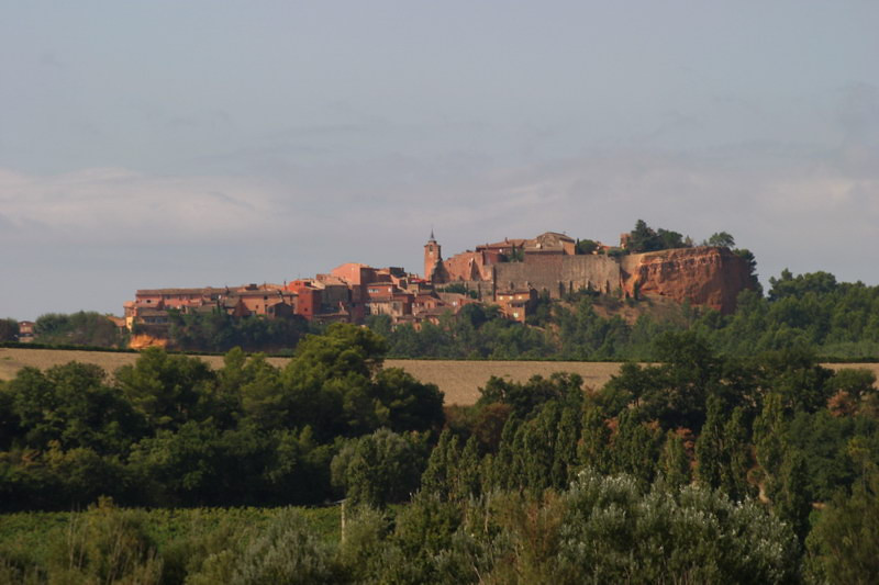 Roussillon, a village between the mountains of the Vaucluse and the Luberon