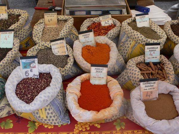 Herbs in the market at Gordes