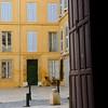 View out of Cathedrale St-Sauveur, Aix-en-Provence