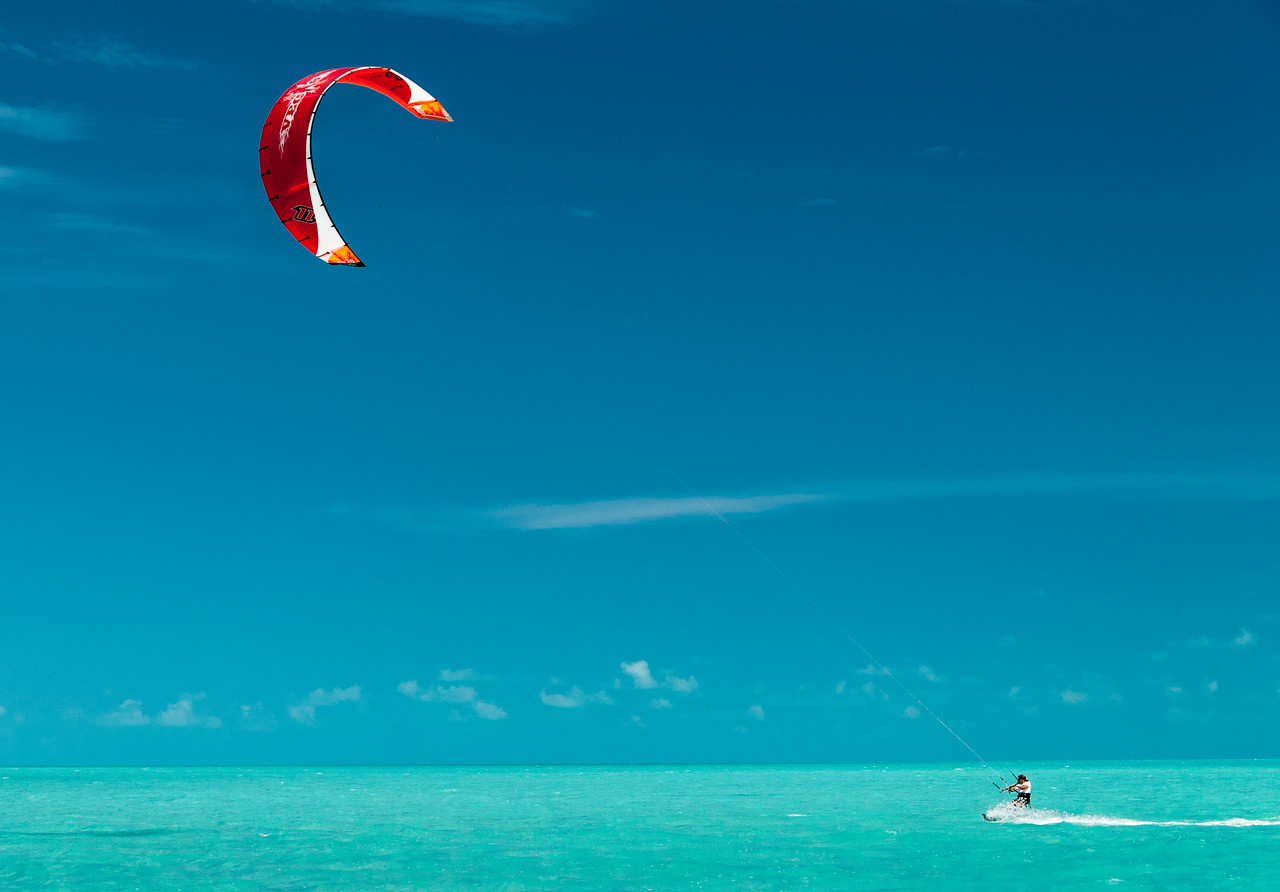 Riding the Wind on Long Bay Beach