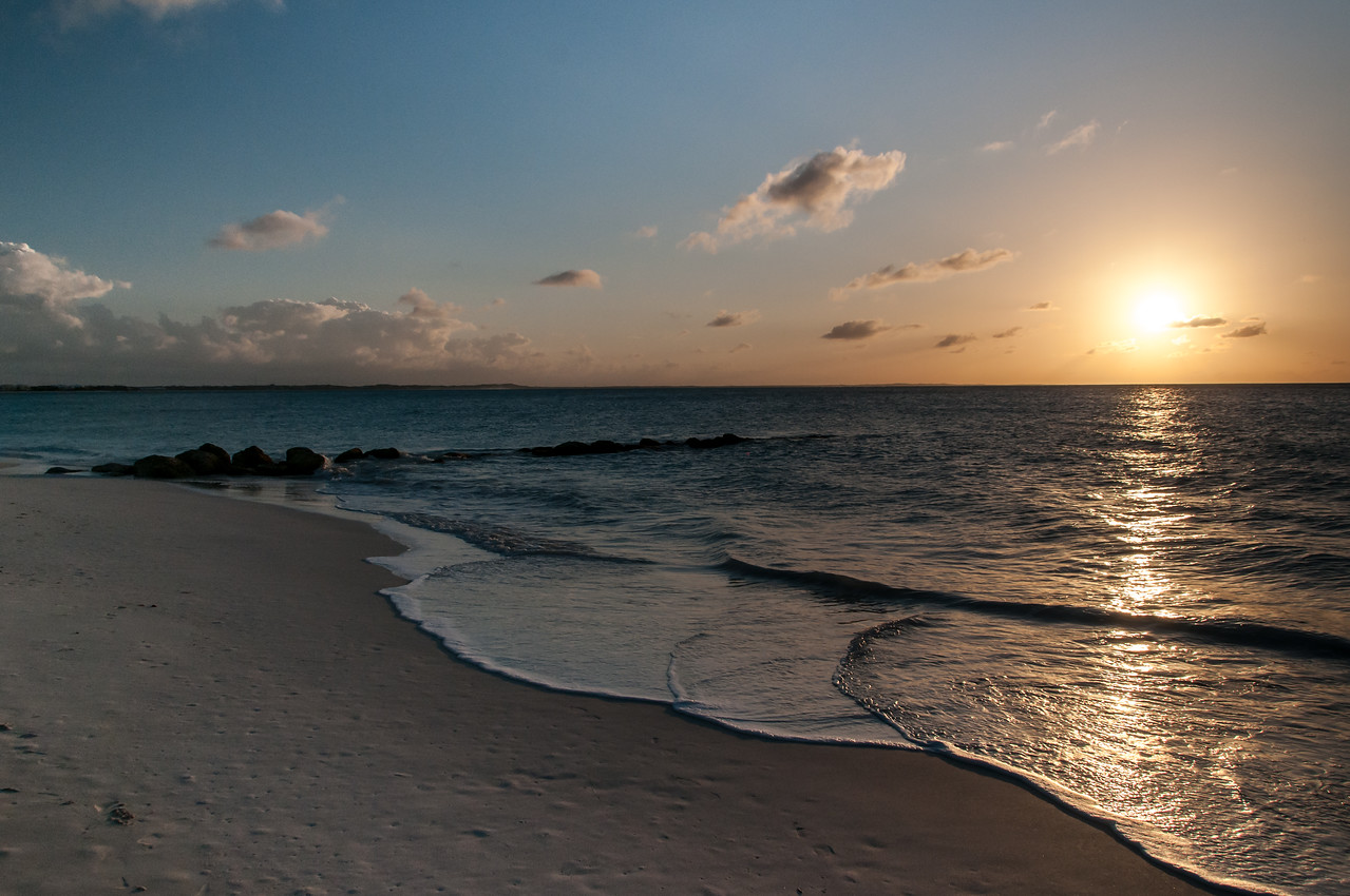 Leeward Beach Jetty at sunset