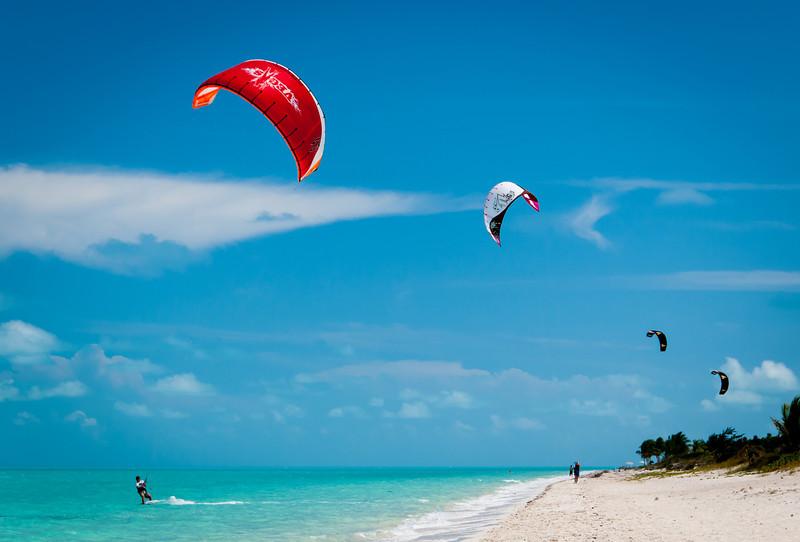 Kite Runners on Long Bay Beach