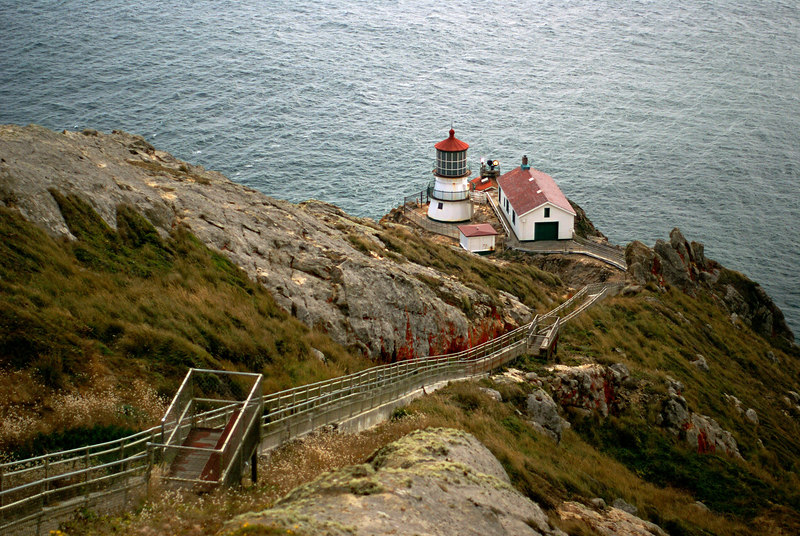 The light station itself - from about 3 stories of stairs above it.
