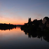 Ptuj by the Drava at sunset
