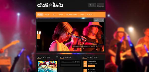 The Band Sandollar's Website Photos.