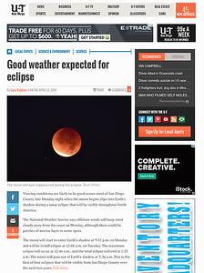 San Diego Union Tribune, April 13th, 2014