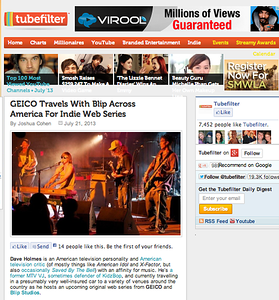 "TubeFilter.com feature on the Geico Indie Across America Concert Series, Featuring the band ""Sandollar"": July 27th, 2013."