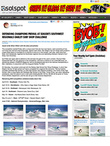 Solspot editorial on the Oakley Surf Shop Challenge Southwest Regionals in Cardiff, California: April 5th & 6th, 2013.