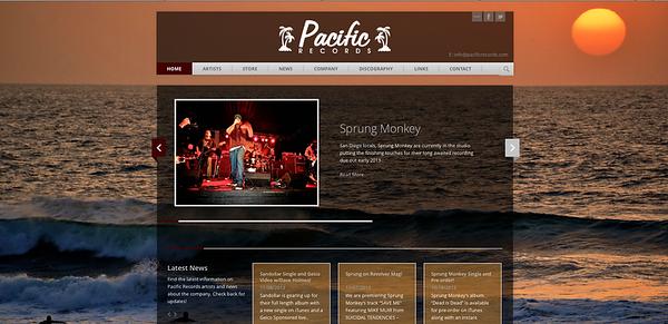 Pacific Record's Website Photos.