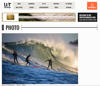 The Mavericks Invitational in Half Moon Bay California: January 20th, 2013.