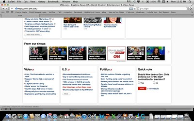 My article with the red tide photo featured on the front page of CNN.com: 10/3/2011