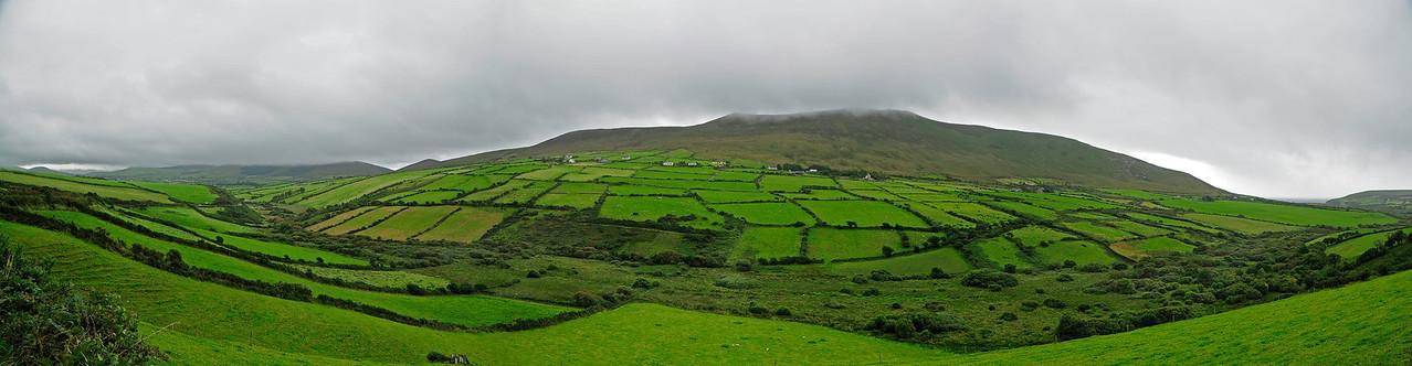 irish countryside pano