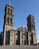 Stitched photo of Puebla's cathedral.
