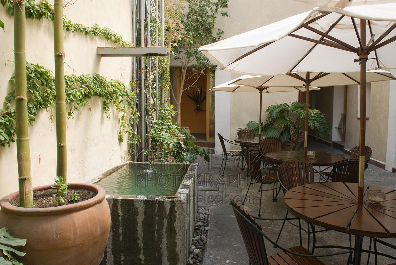 Courtyard at El Sueño Hotel, Puebla
