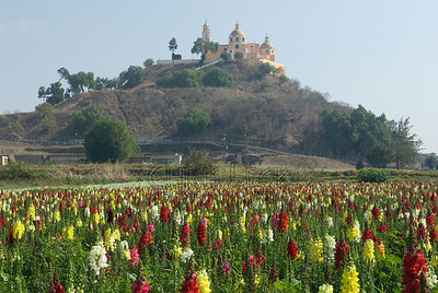 Temanapa Pyramid and Church of Our Lady of the Remedies, Cholula, Mexico