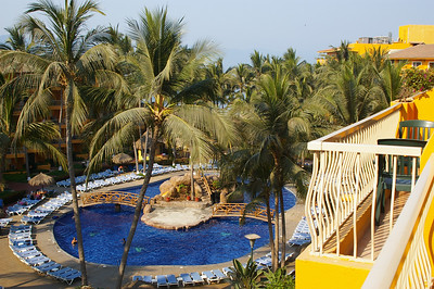 The pools at our resort