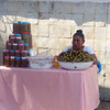 A preserved fruit vendor in Tapachula, Mexico.