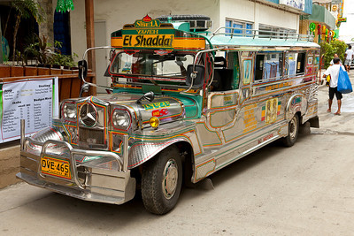 Public transportation, above typical buss in Philippines.