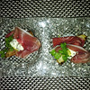 Prosciutto di Parma with Grilled Bosc Pears, Creamy Gorgonzola & Baby Arugula at Marmalade, Old San Juan