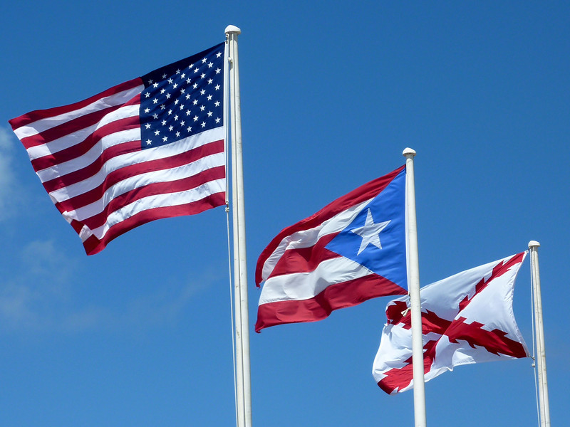 Flags at El Morro, Old San Juan