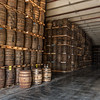 Barrels of rum in one of the Bacardi warehouses
