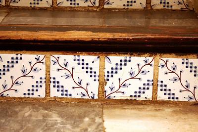 the tiles in the stairway of Ralph Lauren.