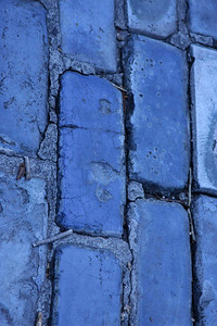 The blue brick streets of old San Juan.