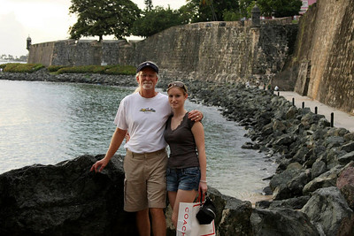 Lacey and Dad in old San Juan