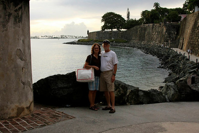 Mom and Dad in old San Juan