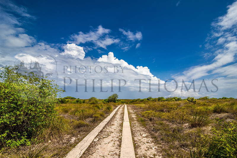 The roadway to the Los Morrillos lighthouse in Cabo Rojo on Puerto Rico's Southwestern most corner.
