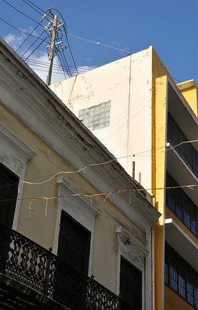 Old San Juan with Telephone Poles