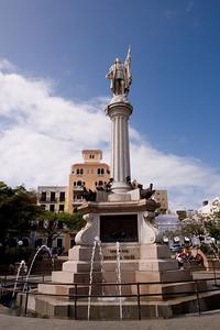 Estatua de Cristobal Colón Plaza de Colón Old San Juan, Puerto Rico
