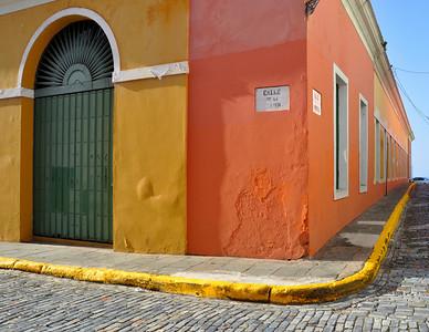 Old San Juan - Colorful Corner near Fort