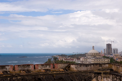 View of Old San Juan and the Atlantic from el Castillo de San Cristobal Old San Juan, Puerto Rico