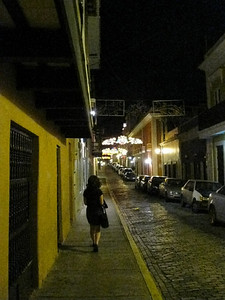 a typical calle in old San Juan