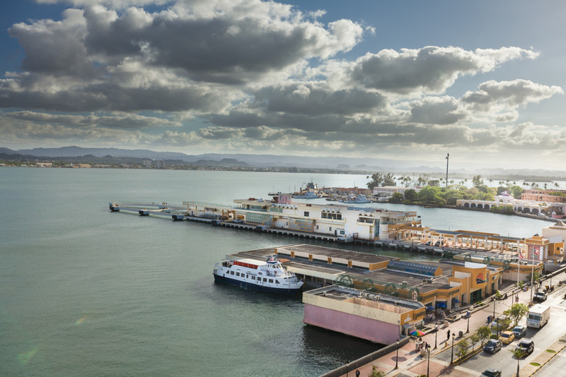 Old San Juan bay and docks
