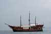 Random pirate ship on the way to Yelapa.