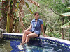 Enjoying the hot spring