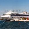 A cruise ship docked at the port of Puerto Vallarta, Mexico.