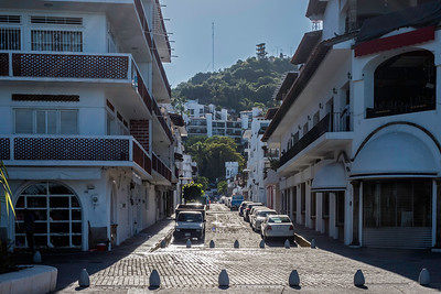 Street in Puerto Vallarta leading up to the hills