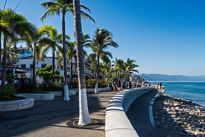 The Malecón is a 12-block esplanade in Puerto Vallarta