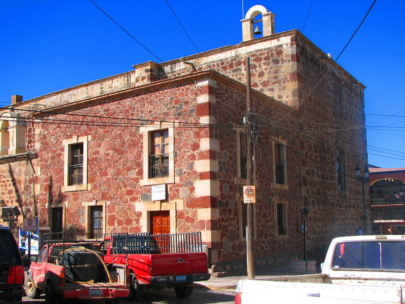 Side of the town's church, a beautiful construction in the main plaza (Compostela).<br /> <br /> El lado lateral de la iglesia, una hermosa construccion en la plaza principal (Compostela).