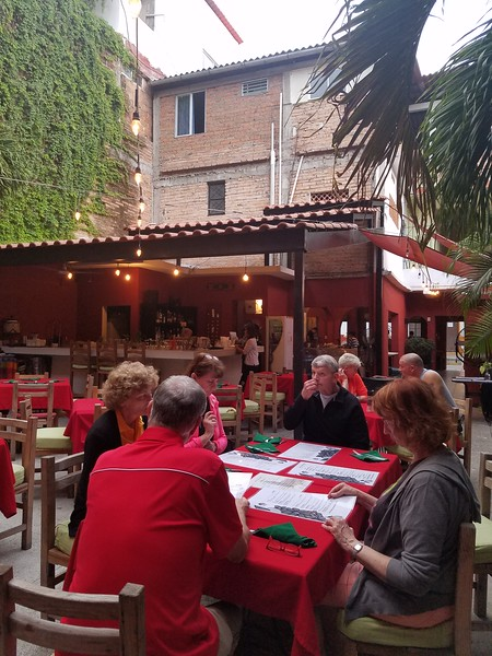 An excellent dinner in the courtyard at Cafe Limon.