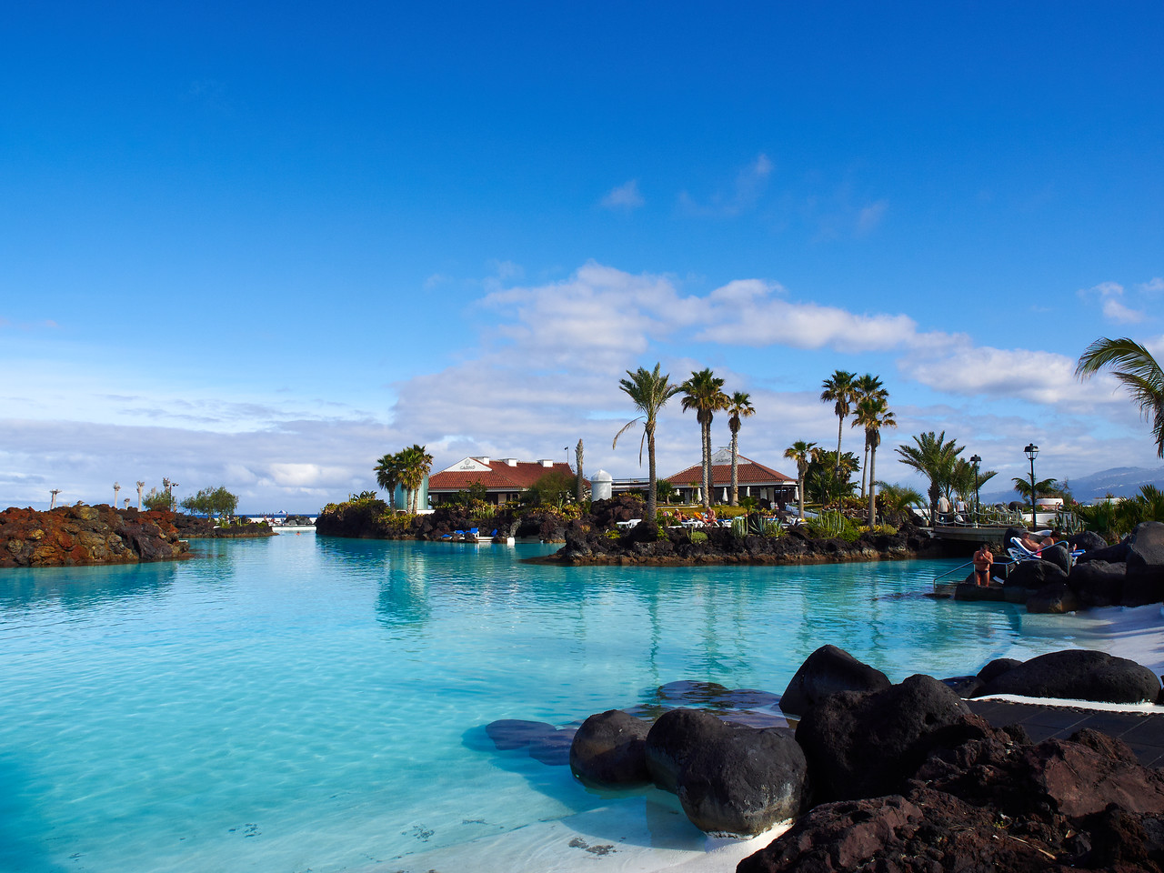 Casino and Sea  Water pools