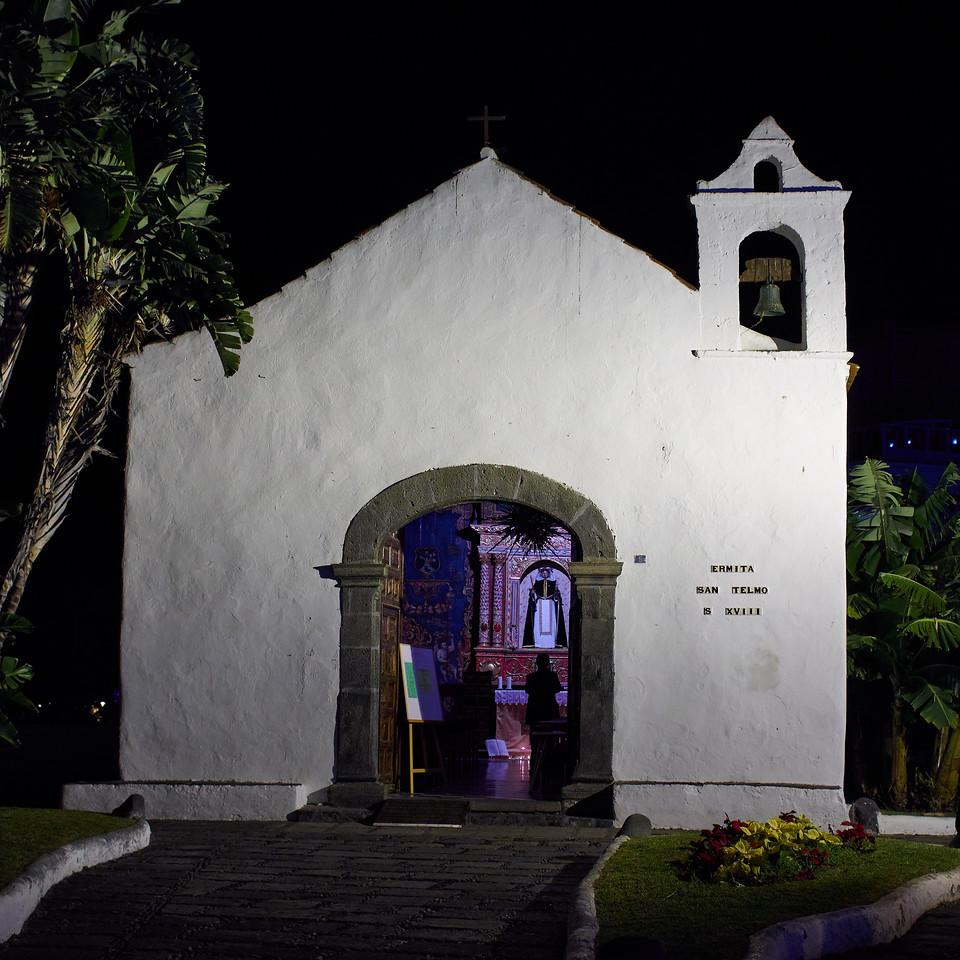 Ermita San Telmo. Puerto de la Cruz by night