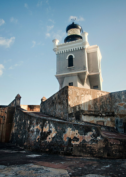 El Morro Lighthouse built by the U.S. Army in 1906.