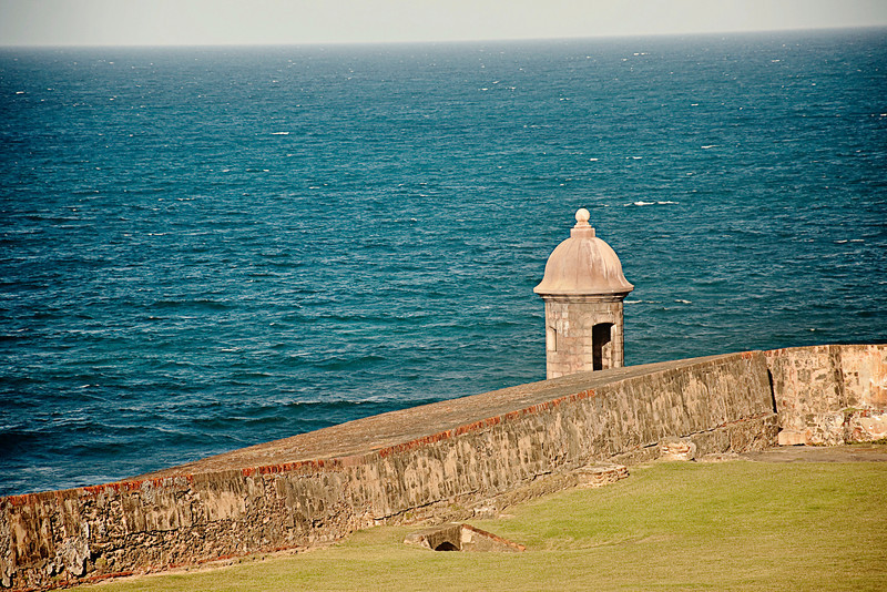 Part of Fort San Felipe del Morro, a 16th century citadel located in San Juan.