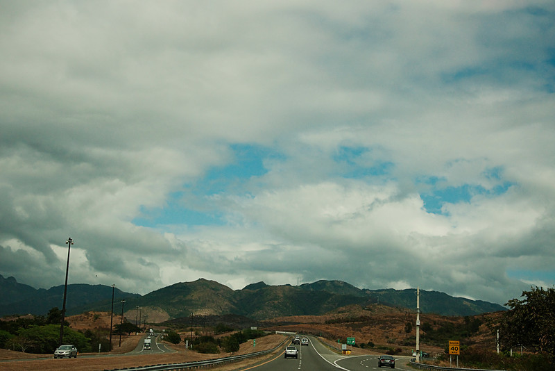 Driving back to San Juan from Ponce.  It is about an hour and a half drive.