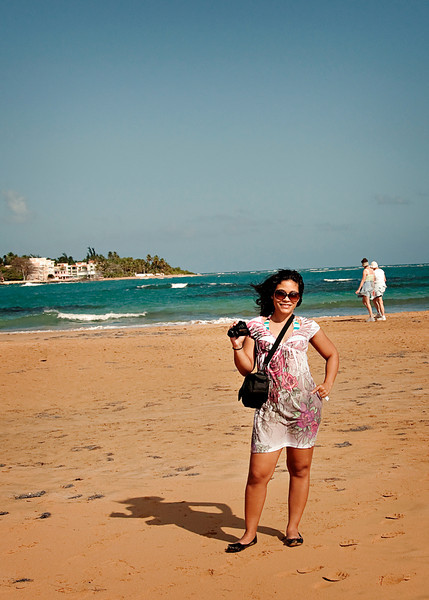 At Luquillo Beach, on our way to Fajardo.